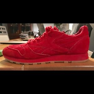reebok classic red suede